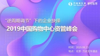 """""""逆周期调节""""下的企业抉择—2019中国购物中心资管峰会"""