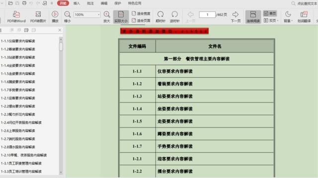 餐饮培训管理大全462页PDF