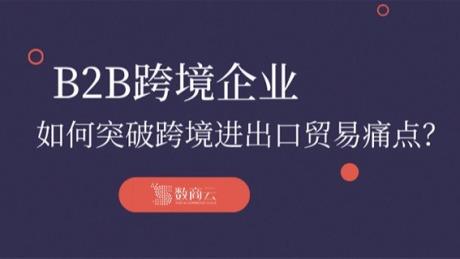B2B跨境电商平台企业如何突破跨境进出口贸易痛点