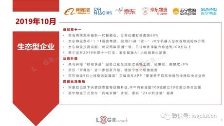 10月物流报:多家企业公布双11打法