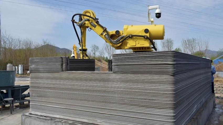 可移动、现场打印,北京美斯顿研发出机械臂式的建筑<em>3D打印</em>机