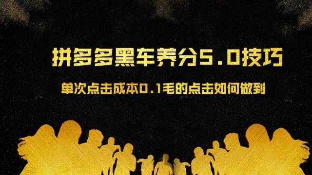 2019拼多多黑车暴力玩法养分5.0技巧(7)